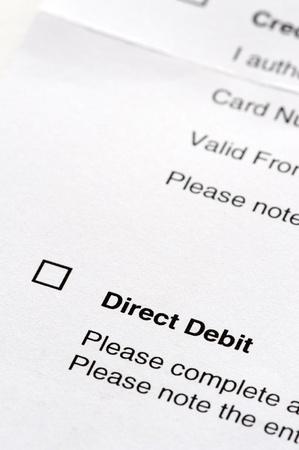 tick box on a direct debit instruction form Фото со стока