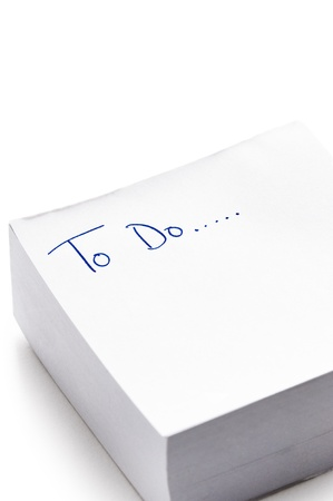 post it pad with the words 'to do' written in ink