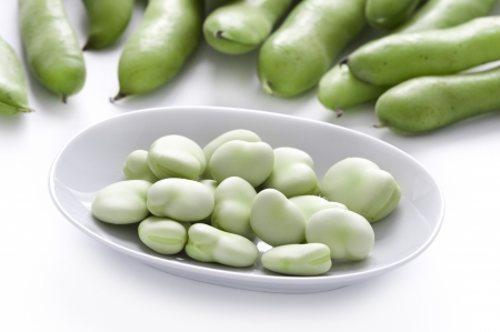 fava: broad beans or fava beans