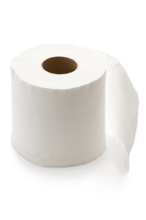 white toilet roll isolated Stock Photo - 15820553