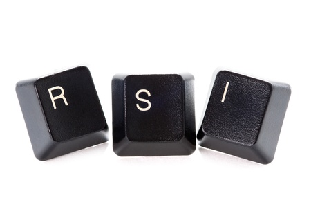 musculoskeletal: computer letters spelling rsi represents repetitive strain injury
