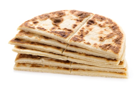 scone: potato scones or tattie cakes isolated on a white background