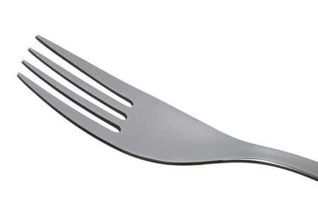 tine: close up of a stainless steel cutlery fork  Stock Photo