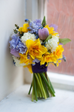 wedding bouquet of spring flowers photo