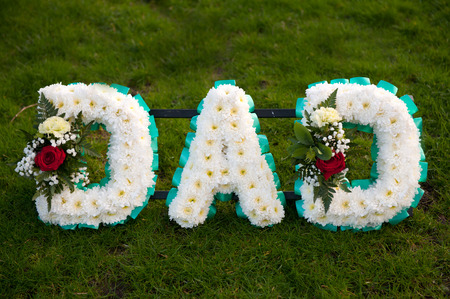 tribute: funeral wreath tribute to dad