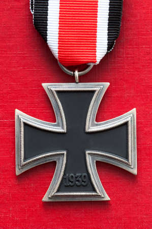 iron cross medal german military world war two swastika removed photo