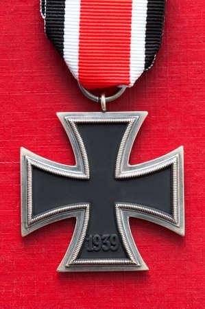 swastika: iron cross medal german military world war two swastika removed