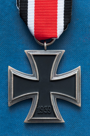 iron cross: iron cross medal german military world war two swastika removed