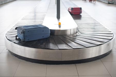 Letiště zavazadla kolotoč Reklamní fotografie