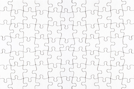 intact: complete blank jigsaw puzzle full frame Stock Photo