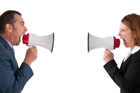 megafono: comunicaci�n concepto conflicto