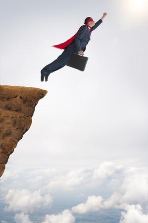 business success concept superhero businessman flying 版權商用圖片