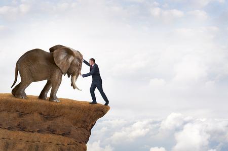 precarious: business strength concept