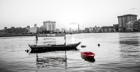 bur dubai: boat on - Dubai Creek
