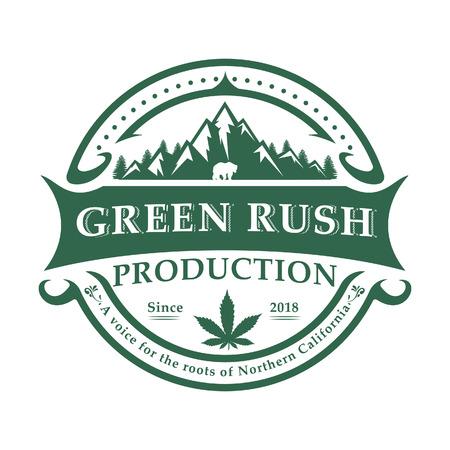 Retro Marijuana Cannabis Health Production