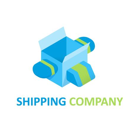 Shipping Geometric Logo Template 일러스트