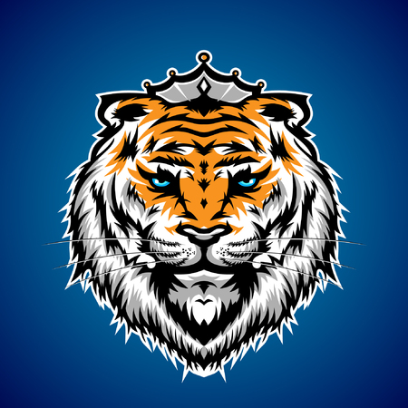 Tiger King Head Illustration Ilustrace