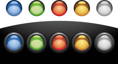 teknik: coloured buttons Illustration