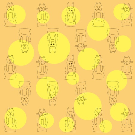 охватывающей: Vector baby covering with cat, pig and dog Иллюстрация