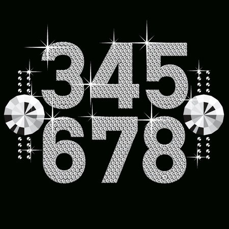 vector set of diamond letters and numbers big and small Stock Vector - 8976958