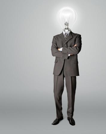 businessman with lamp-head have got an idea photo