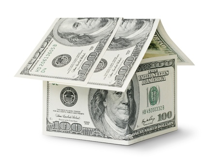 dollar in shape house isolated on white background Stock Photo - 8992653