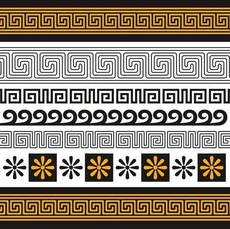 Satz von Griechenland Ornamente Vektorgrafik