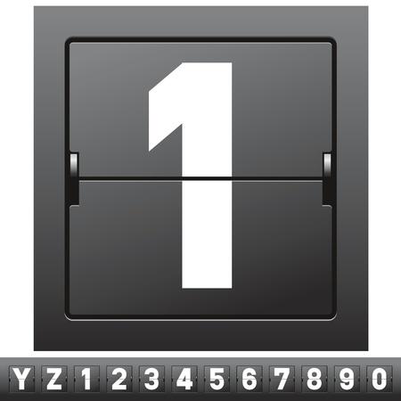 airport sign: big set of mechanical scoreboard alphabet
