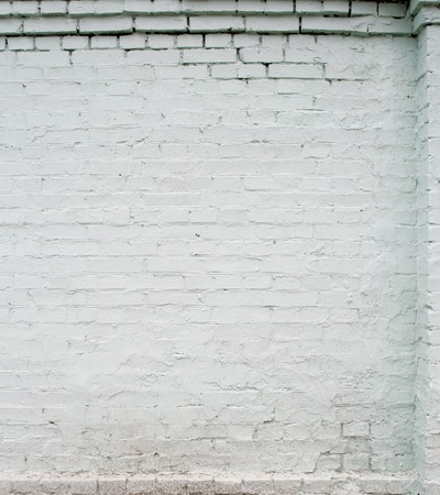 white brick wall, close up, with stucco Stock Photo - 9094219