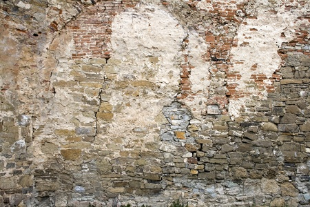 old brick wall, close up, with big crack, weathered Stock Photo - 9094323