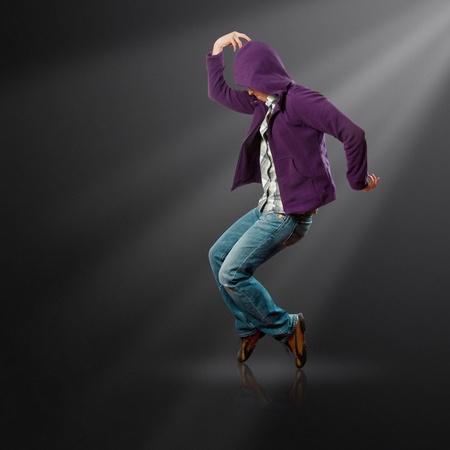 jackson: male street dancer, dance like michael jackson Stock Photo