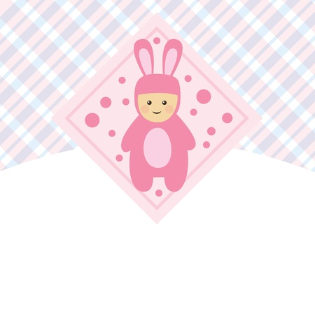 vector little hsppy babys set, with cover, for baby shower Vector