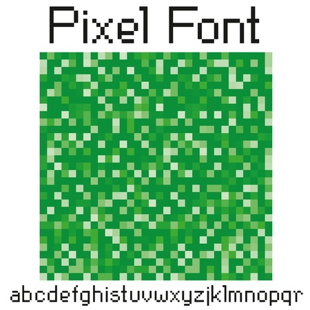 vector pixel letters big set uppercase and small character Stock Vector - 9563491