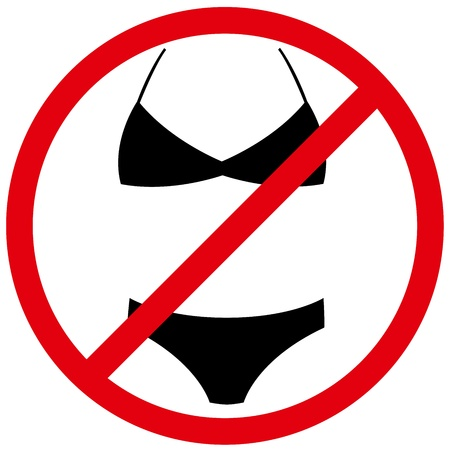 vector naturism sign, means nude people only, no textile Stock Vector - 9564109