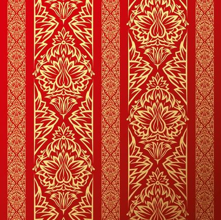 saloon: Vector antiguo de papel tapiz de fondo, con elementos florales transparentes Vectores