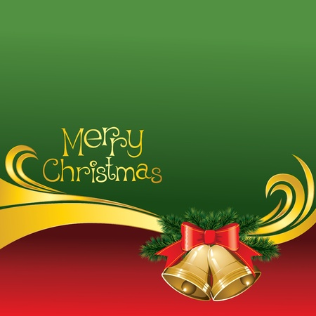 2012 vector christmas card with jingle bells Stock Vector - 11152116