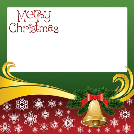 2012 vector christmas card with jingle bells Vector