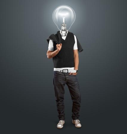 lamp head man have got an idea photo