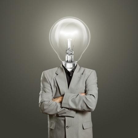 lamp head businessman have got an idea Stock Photo - 11208045
