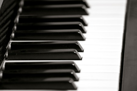 Piano keyboard with selective focus, frame Stock Photo - 12061252