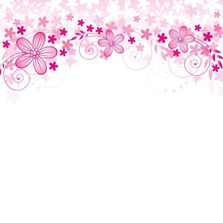 season greetings: R�sum� de fond avec des fleurs et des spase pour votre texte Illustration