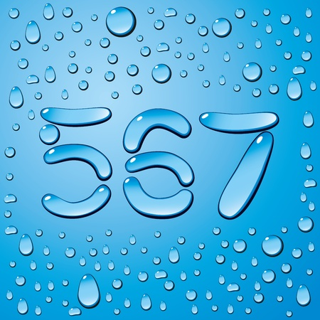 water liquid letter: Vector set of water drops letters on blue background