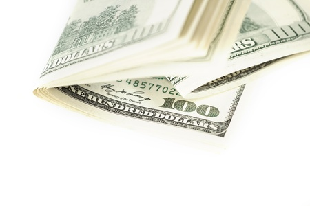 Dollar abstract background against white Stock Photo - 13704465
