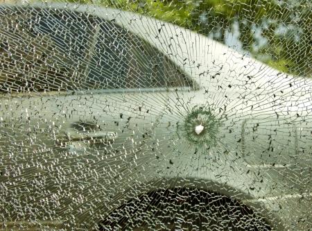 Insurance concept, broken car photo