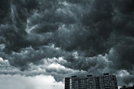 Beautiful storm sky with clouds, apocalypse like Редакционное