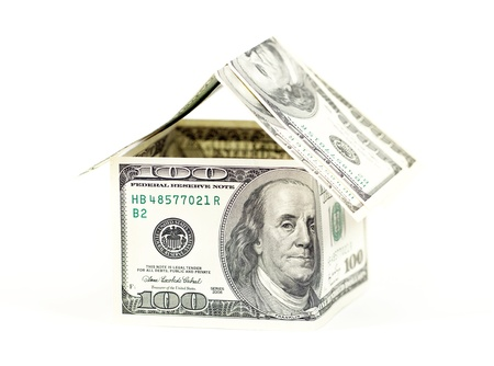Abstract dollars concept means mortgage or hypothecation photo