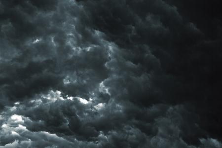 Beautiful storm sky with clouds, apocalypse like Фото со стока