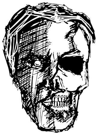 sketch evil monster skull for Halloween Stock Vector - 15425963