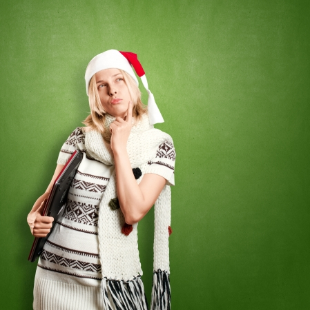Woman with Santa photo