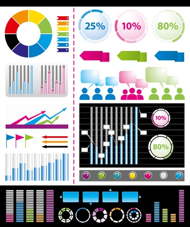 sales graph: big set of infogrsphic elements usefull for any visualisations